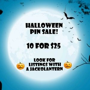 10 pins for $25! 🎃